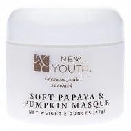 Смягчающая маска с экстрактом папайи и тыквы / Soft papaye and pumpkin Masque New Youth 57 мл