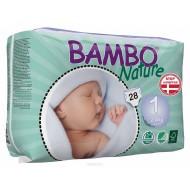 Abena ECO Подгузники детские 1 для новорожденных 2-4 кг №28  Bambo Nature