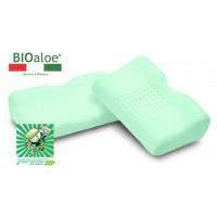 Vefer Bio Aloe JAP 53 (GU 24) / Ортопедическая анатомическая подушка с эффектом памяти, антидавления и экстрактом алоэ вера с выемкой под плечо для сна на боку