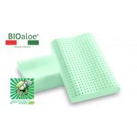 Vefer Bio Aloe Cervicale 60 / Анатомическая ортопедическая подушка с экстрактом алоэ вера, эффектом памяти и антидавления с двумя валиками разной высоты